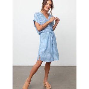 Rails Emma St Germain Stripe Blue Sun Dress XS